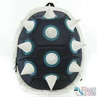 White Spiked Black Shell Backpack