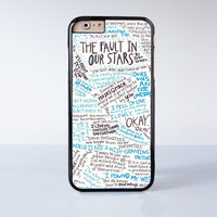 The Fault in our stars OKay OKay  Plastic Case Cover for Apple iPhone 6 6 Plus 4 4s 5 5s 5c