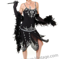 Roaring 1920's Gatsby Flapper Halloween Costume - Unique Vintage - Bridesmaid & Wedding Dresses