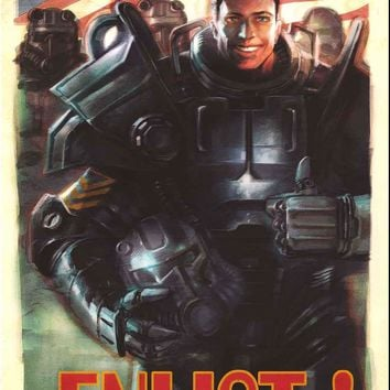 Fallout 4 Enlist! Video Game Poster 24x36
