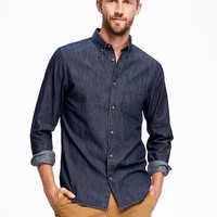 Slim-Fit Classic Chambray Shirt For Men | Old Navy