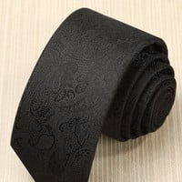 Premium Men's Black Design Tie