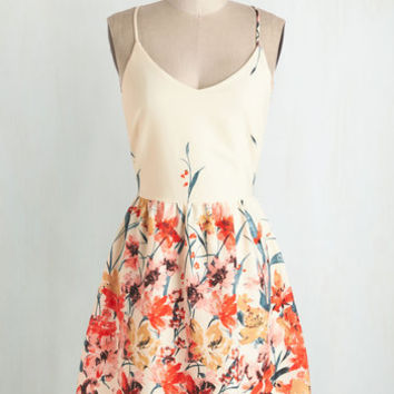 Mid-length Spaghetti Straps A-line Calling All Wildflowers Dress