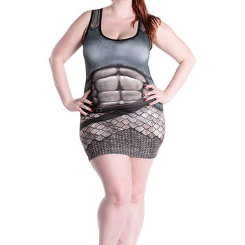 Armour Dress - Gaheris, with Stomach Plate - Sample 2 - Printed Chainmail