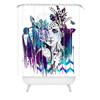 Holly Sharpe Tribal Girl Colourway Shower Curtain