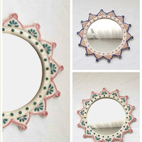 Ceramic Mirror Home Decor