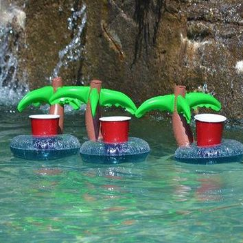Swimming Pool beach Inflatable Pool Party swimming Cup holder drink Bottle Holder Cell Swim Ring Water Toys Phone  Accessories BathingSwimming Pool beach KO_14_1