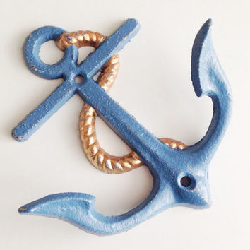 Anchor Nautical Wall Hook, Decorative Wall Hook, Nautical Wall Decor, Cast Iron Anchor, Nursery Decor, Pool Towel Rack