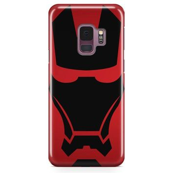 Iron Man Mask Logo Samsung Galaxy S9 Case | Casefantasy