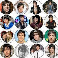 Set of 16 PETE WENTZ Pinback Buttons 1.25 Pins /Badges FALL OUT BOY