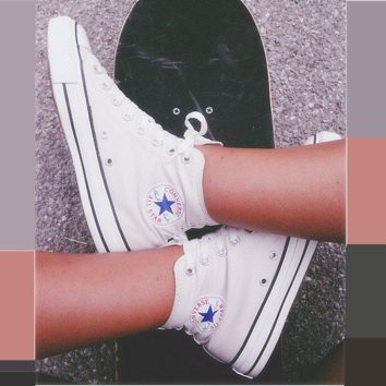 Converse Hight tops sports Leisure Comfort Shoes All Star White