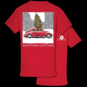 Southern Couture Preppy Christmas Bug Holiday T-Shirt