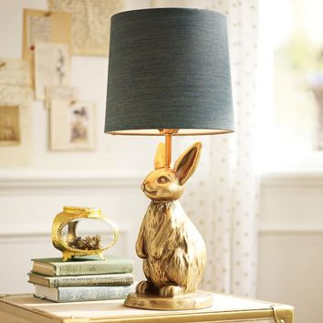 The Emily & Meritt Brass Bunny Table Lamp