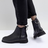 ASOS DESIGN Aria Chunky Chelsea Ankle Boots at asos.com