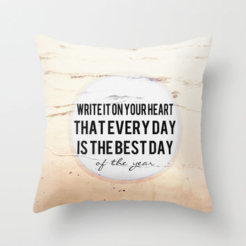 Write It On Your Heart  Throw Pillow by secretgardenphotography [Nicola]