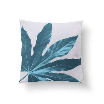 Aralia Leaf Pillow, Tropical Art Pillow, Boho Desert, Decorative Pillow, Boho Art, Botanical Pillow, Throw Pillow, Home Decor, Cushion Cover