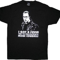 SNL Saturday Night Live Christopher Walken More Cowbell Black T-shirt|TV Store Online