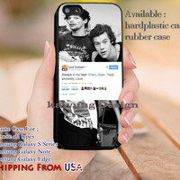 Always in My Heart Louis Tomlinson Harry Styles iPhone 6s 6 6s+ 5c 5s Cases Samsung Galaxy s5 s6 Edge+ NOTE 5 4 3 #music #1d dl12