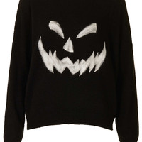Knitted Pumpkin Face Jumper - Knitwear - Clothing - Topshop USA