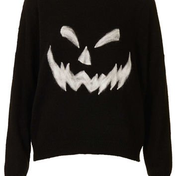 Knitted Pumpkin Face Jumper - New In This Week  - New In