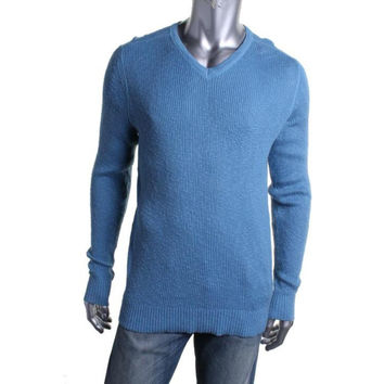 Kenneth Cole Reaction Mens Knit Slub Pullover Sweater