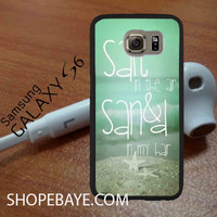 Beach Quote Salt in The Air Sand in My Hair 2 For galaxy S6, Iphone 4/4s, iPhone 5/5s, iPhone 5C, iphone 6/6 plus, ipad,ipod,galaxy case