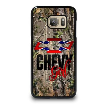 CAMO BROWNING REBEL CHEVY GIRL Samsung Galaxy S7 Case Cover