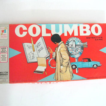 Vintage 1974 Columbo Detective Series Board Game made by Milton Bradley