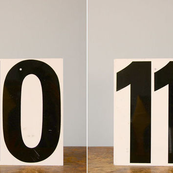 Vintage Metal Number Placard
