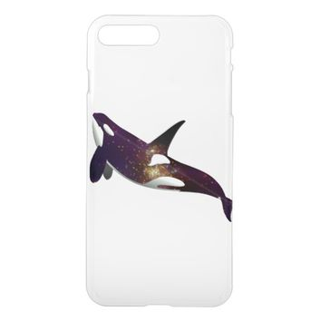 Clear beautiful galaxy stars space orca whale cool clear iPhone 6/6S case