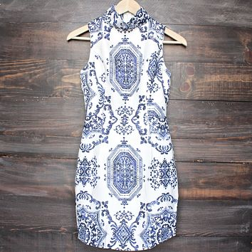 oh so fine porcelain print dress