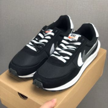 HCXX 19July 622 Nike LDV Blazer Waffle Daybreak x Sacai BV0073 Causal Sneakers Racing Shoes black white grey