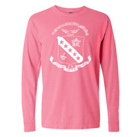 SK // Sigma Kappa Crest // Comfort Colors Long Sleeve // Sorority Tee // Choose Your Colors