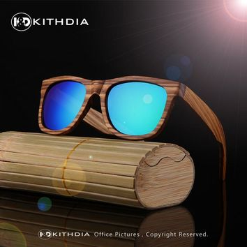 Real Polarized Zebra Wood Sunglasses Men Women Hand Made Vintage Wooden Frame Male Driving Sun Glasses Shades Gafas With Box