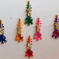 Beautiful Bindi Self Adhesive Indian Dots Body Art And Bridal Jewelry bollywood (AA38)