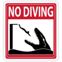 No Diving - Mosasaurus Warning by thekohakudragon