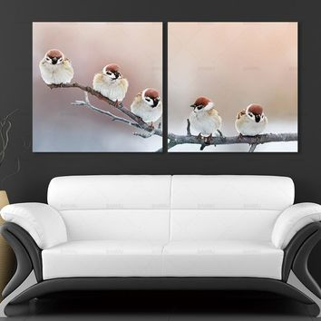 Wall Art Pictures deear Canvas Painting  abstract art prints birds on canvas Wall poster animal home decoration for living room