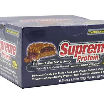 Supreme Protein Carb Conscious Quadruple Layer Protein Bar Peanut