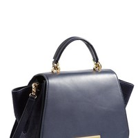 Women's ZAC Zac Posen 'Eartha' Soft Leather Top Handle Satchel - Blue