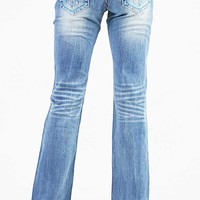Grace in LA Jeans Bootcut with Colorful Diamond Pockets JB6965
