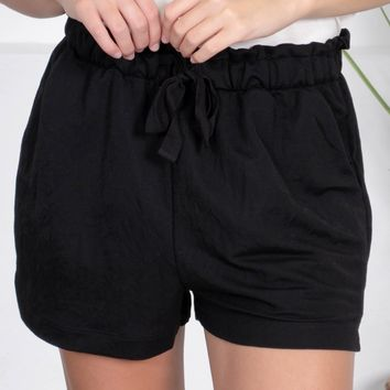 Adventure Drawstring Shorts | Black