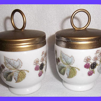 Royal Worcester EGG CODDLERS Pair Type 9 Porcelain Lavinia Pattern Vintage