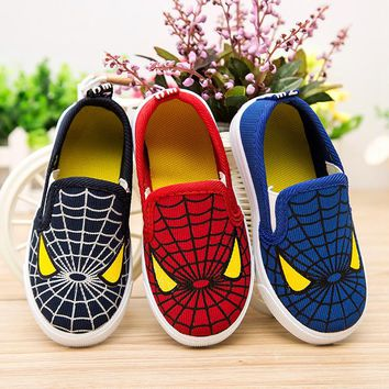 2017 Hot Sale Fashion Kids Shoes For Boys Girls Spiderman Children Sneakers Soft Breathable Boys Shoes Spider man Loafers