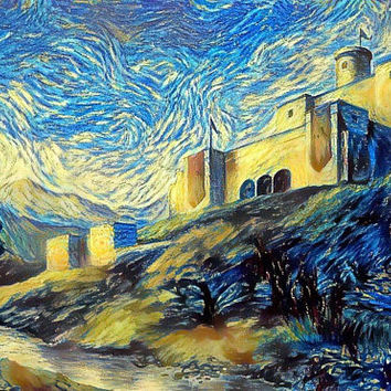 Game of Thrones Original Oil Painting - Hornhill Castle - 12x12 to 24x36 painting/poster/canvas; great gift idea
