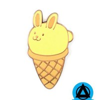 Anisha Creations - Bunny Ice Cream Cone Pin