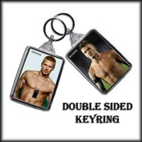 DAVID BECKHAM DOUBLE SIDED KEY RING - 003