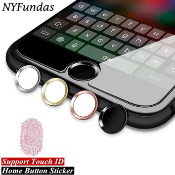 10PCS NYFundas Metal Home Button Sticker For iPhone 8 7 6 6S Plus 5 5S SE iPad Keyboard Support Touch ID Fingerprint Home Key