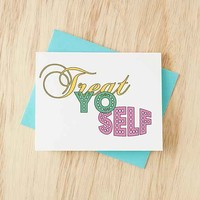 TurtleSoup Treat Yo Self Card- Multi One
