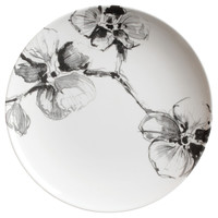 Aram Black Orchid Dinner Plates, Set of 4, Dinner Plates