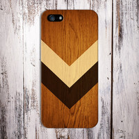 Geometric Light Brown Stained Wood x Chevron Case for iPhone 6 6 Plus iPhone 5 5s 5c iPhone 4 4s Samsung Galaxy s6 s5 s4 & s3 and Note 4 3 2